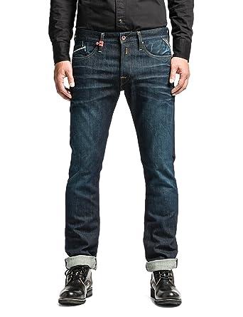 Replay Blue Waitom Regular Slim Fit Jeans - Mens  Amazon.co.uk  Clothing 007edf24d180