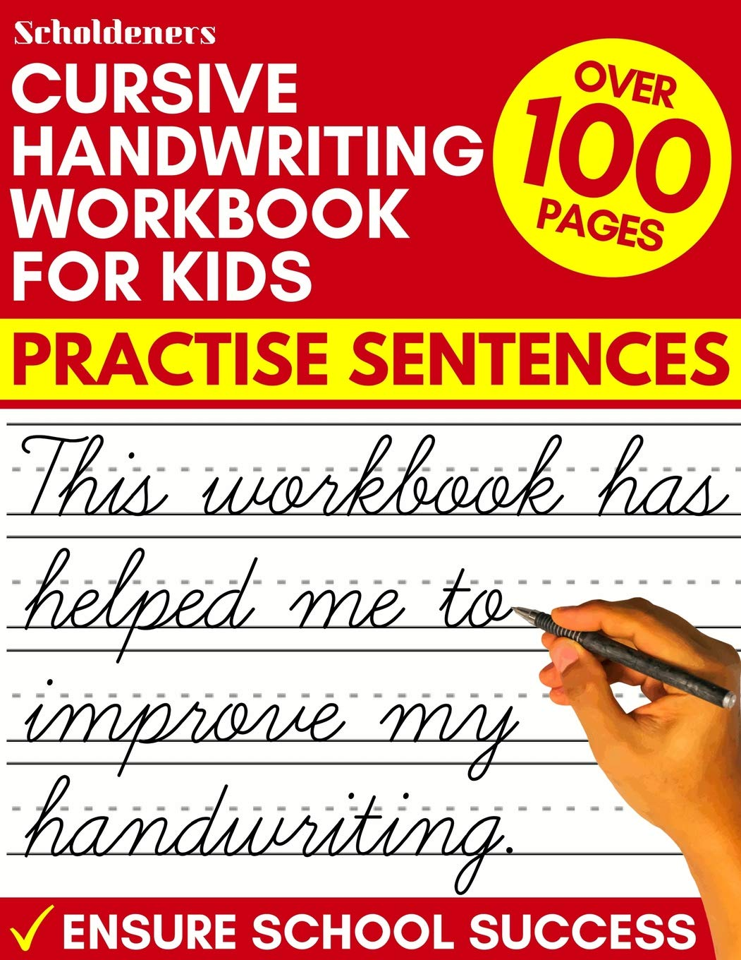 Cursive Handwriting Workbook for Kids: Practise Sentences ...