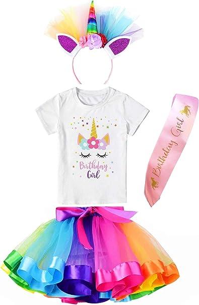 Amazon.com: Falda de tutú para niñas con diseño de unicornio ...
