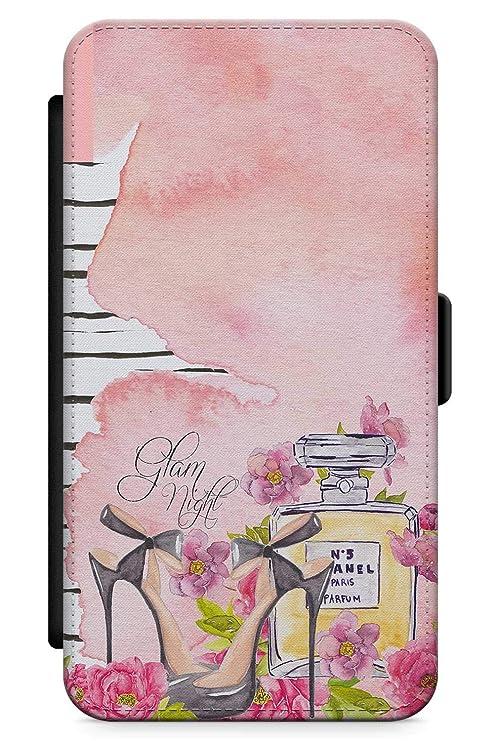 c84254f8da3 iPhone XR Case El Estilo Es Siempre Talones Perfume | Cartera de Piel  sintética con Ranura