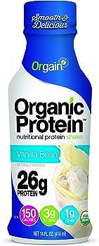 Orgain Organic Vanilla Bean 14 Ounce 12 Count 26g Protein Shake