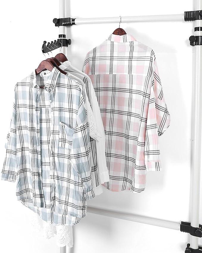 Set de guardarropa telesc/ópica sistemas de armario extensible altura y anchura ajustable porte-v/êtements abrigo chemisiers y vestidos c/ámara, 2 Poteaux 2 Barres