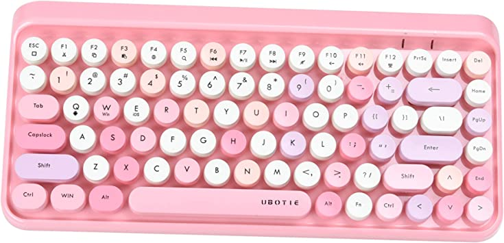 UBOTIE Portable Bluetooth Colorful Computer Keyboards