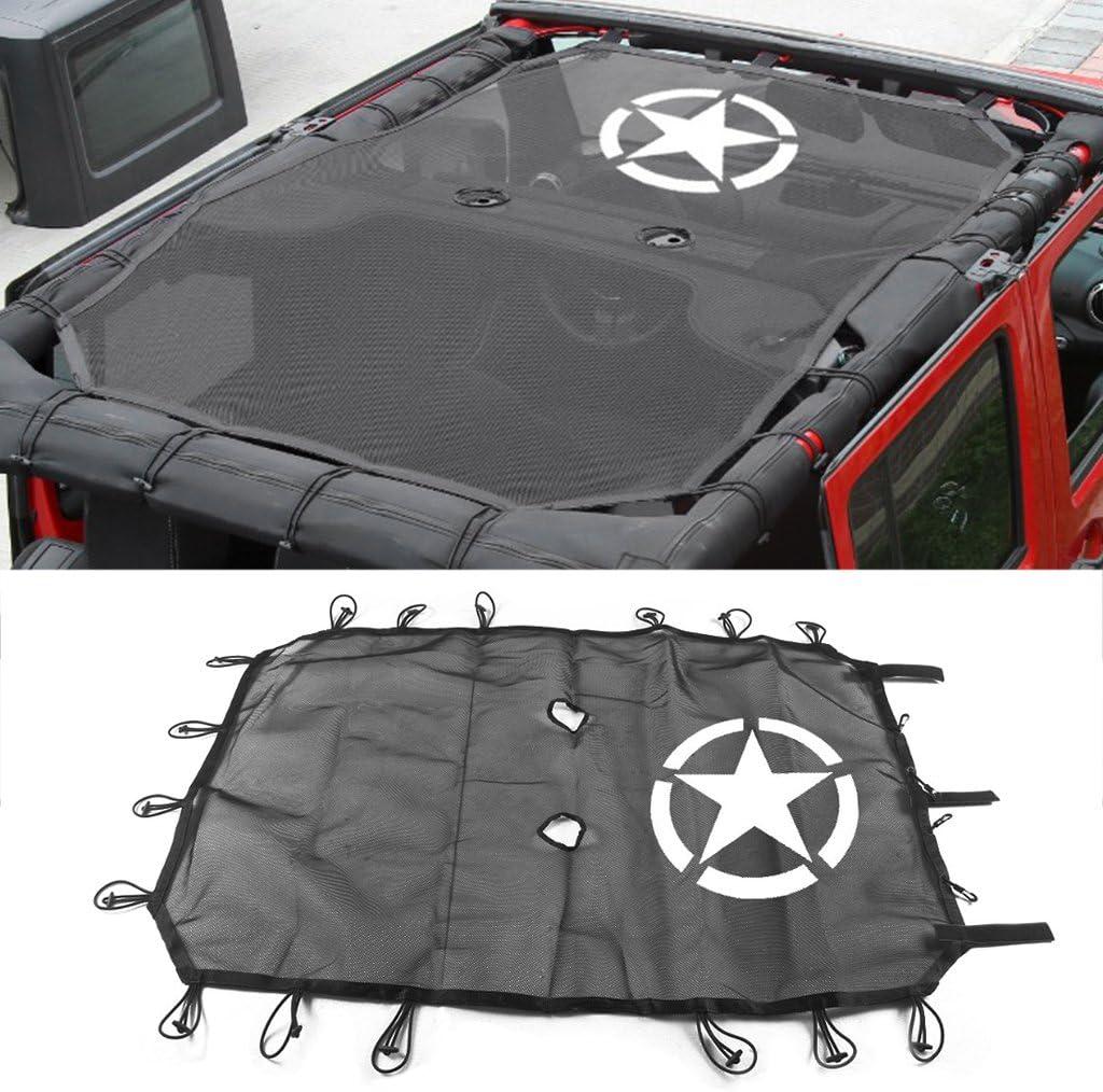 COLUDOR Pare-Soleil en Maille pour Jeep Wrangler JK 4 Portes 5 /étoiles Protection UV