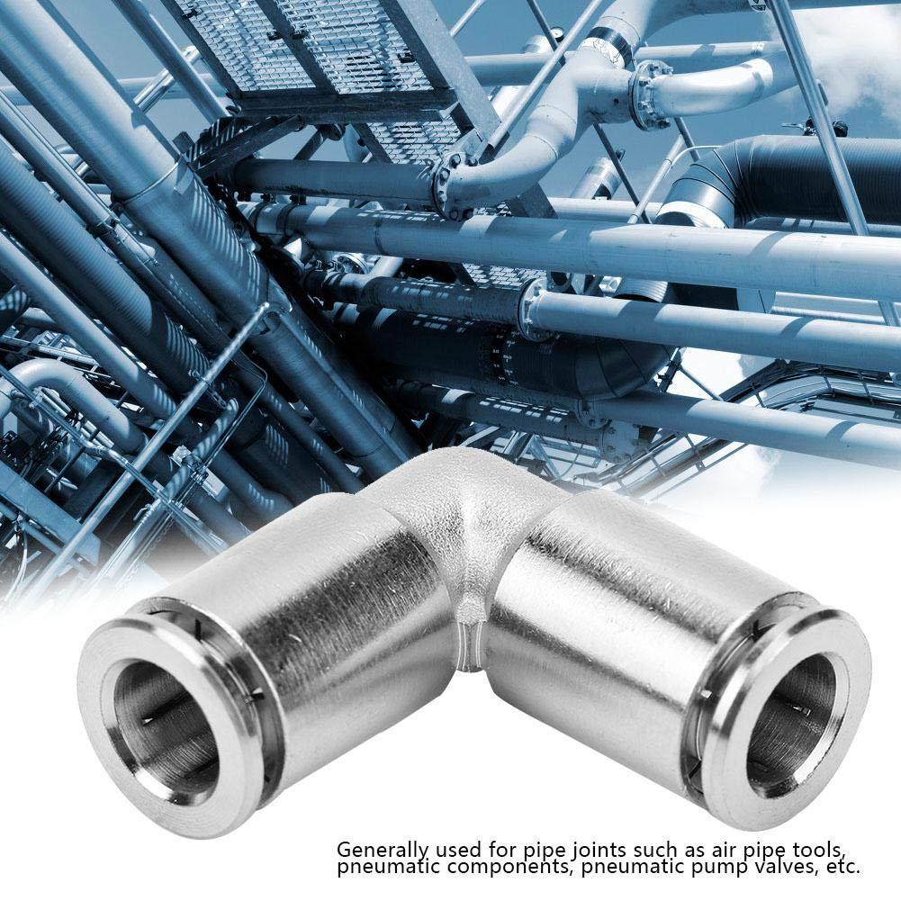 Niquelado Codo Manguera de Aire de 90 Grados Conexiones Neum/áticas de Conector R/ápido Conectores Neum/áticos R/ápidos 8mm 2 Piezas de Cobre