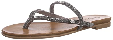 Inuovo BARCELONA, Tongs pour femme Gris Grau (GREY LEA GREY STRASS