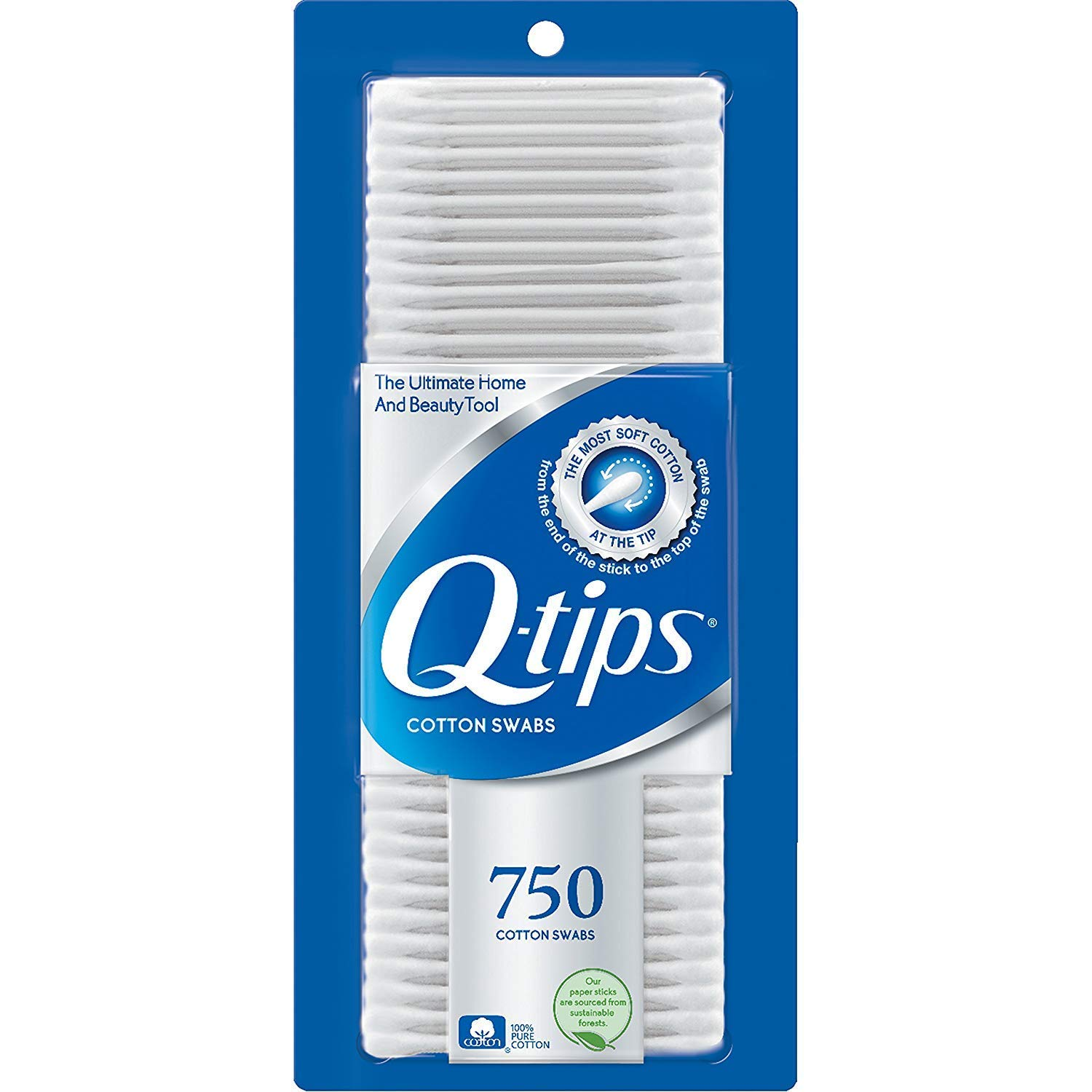 Q, Tips Cotton Swabs, 750 ct, 2 Pack