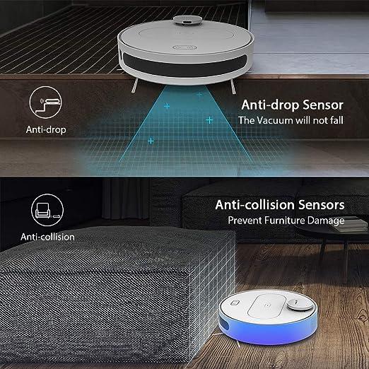 Robot Aspirador y Fregasuelos 4 en 1, 360 S6, Aspirador Robótico 1800Pa, Mapeo con Pared Virtual Wall Dual, Auto-recarga, WIFI APP Control, ...