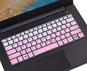 Keyboard Cover Protective Skin Compatible with Lenovo Yoga C930 920 13.9 Inch, Lenovo Yoga 720/730 13.3 inch, Yoga 730 15.6 inch, Yoga 720 12.5 inch Keyboard Protector, Gradual Pink