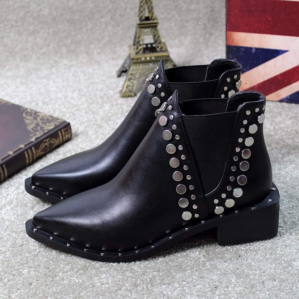 KOKQSX-Damen - Stiefel Mode Mode Mode Leder Willow nägel Martin Stiefel Chelsea Stiefel. 0c2c48