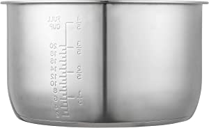 GJS Gourmet Replacement Inner Cooking Pot Compatible with Power Pressure Cooker XL 10 Quart Model PPC790 (or #PPC790), PPC773 (or #PPC773), and WAL4 (Stainless Steel, 10.0 Quart)