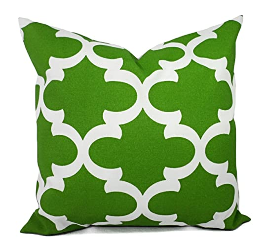 Exceptionnel Outdoor Patio Pillow Cover   Deep Green Pillow Cover   Quatrefoil Trellis  Pillow   Custom Sized
