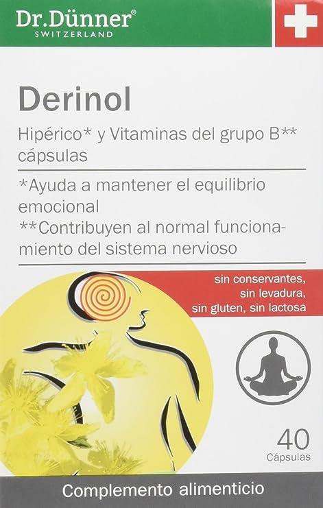 Dr. Dünner, Capsulas del Hiperico y Vitaminas del grupo B, 40 capsulas