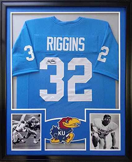size 40 c12a8 0f08a John Riggins Kansas Jayhawks Autograph Signed Custom Framed ...