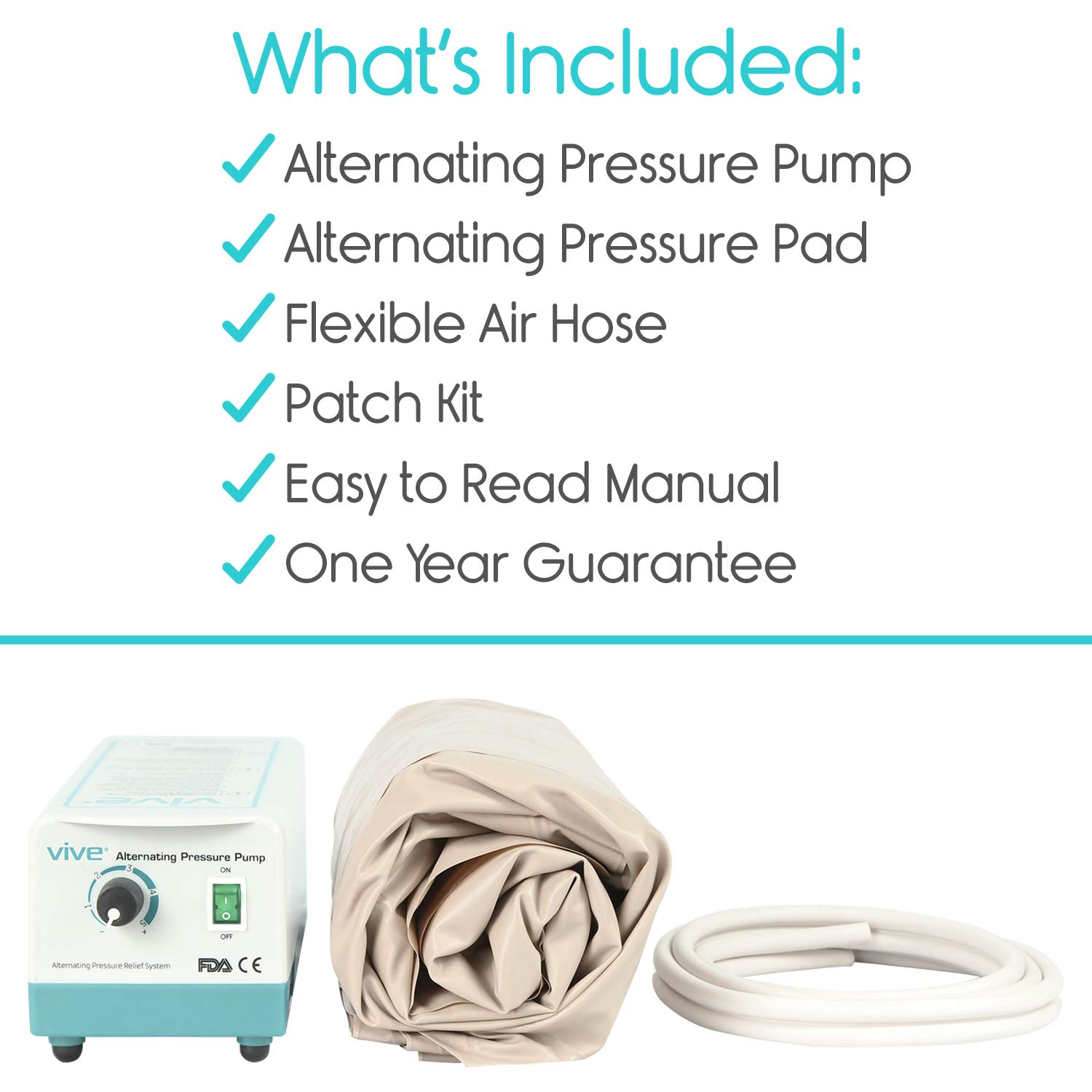 Vive Alternating Pressure Pad - Includes Mattress Pad and Electric