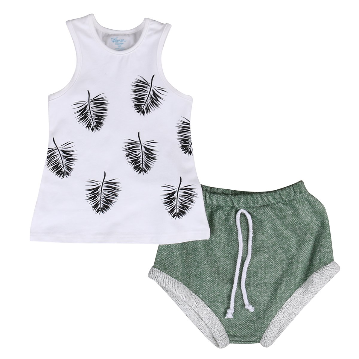 Short Pants 2pcs Outfit Set TheFound Newborn Baby Clothing Sleeveless Printed Tank Tops T-shirt