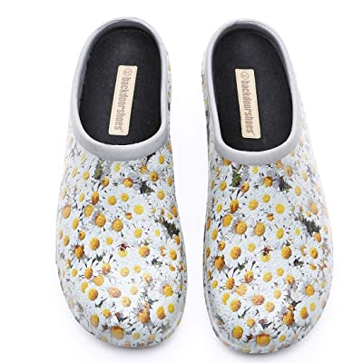 Backdoorshoes Waterproof Premium Garden Clogs with Arch Support-Daisy Design | Mules & Clogs