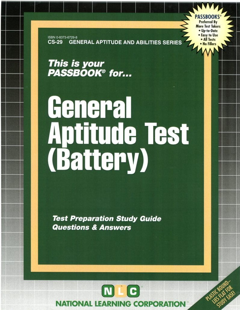 General Aptitude Test Battery Career Examination, Cs-29 Passbook for Career  Opportunities: Amazon.co.uk: Jack Rudman: Books