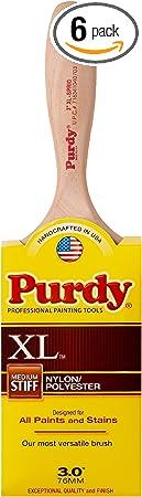 Purdy 144380330 Flat Trim Sprig Brush, 3-Inch, 6-Pack