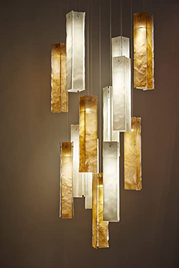 am studio lighting. AM Studio Lighting Multi Pendant LED Chandelier 17 Units Of Amber And White Glass Am F