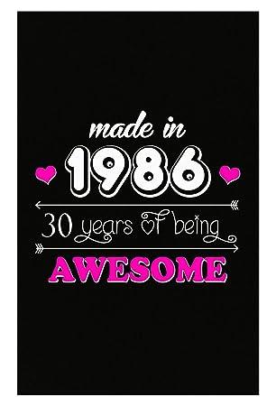 BADASS REPUBLIC Made In 1986 30 Birthday Gift Woman