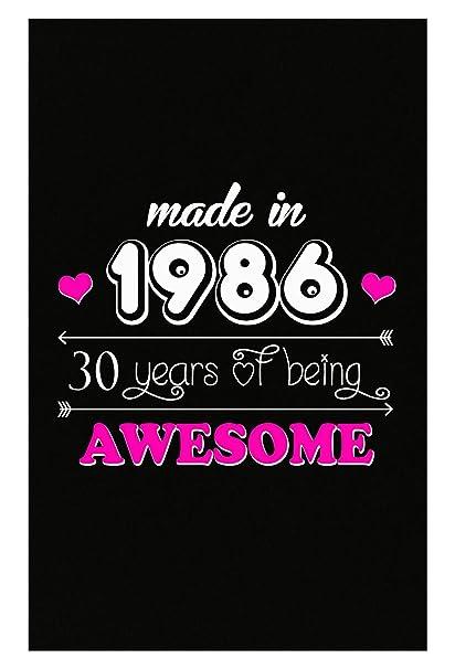 Amazon BADASS REPUBLIC Made In 1986 30 Birthday Gift Woman