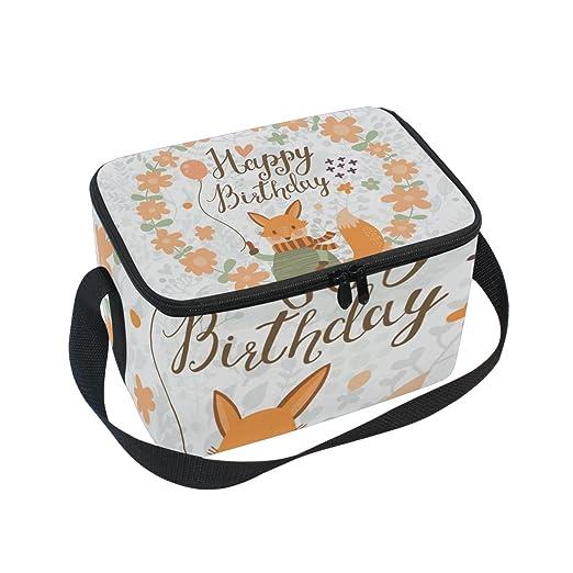 COOSUN Fox Feliz cumpleaños Aislado Caja de Almuerzo del ...