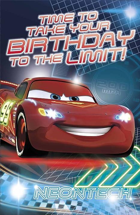 Amazon Disney Pixar Cars Birthday Card Crossing The Finishing
