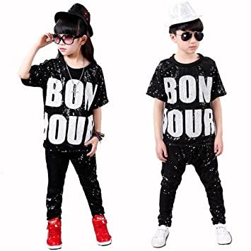 857c2640a tradeonline6688 Girls Boys Youth Dance Clothes Jazz Hip-hop Stage Str-Dance  B-