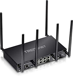 TRENDnet AC3000 Tri-Band Wireless Gigabit Dual-WAN VPN SMB Router, TEW-829DRU,MU-MIMO, Wave 2, Router Limits, Internet Router, Whole Office/Home wifi, Pre-Encryped Wireless,QoS, Inter-VLAN routing