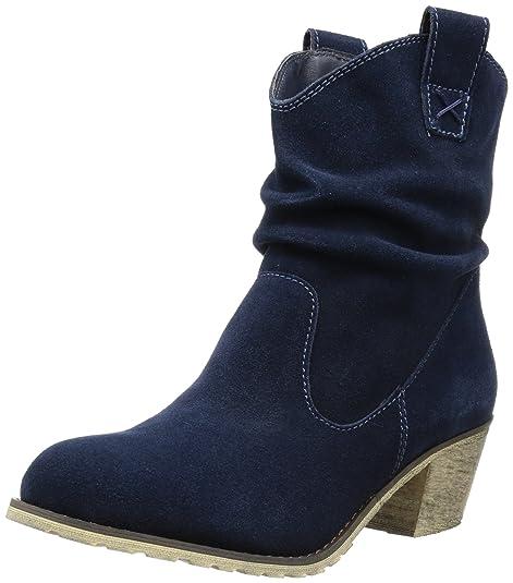 Andrea Conti 1124167, Botas Camperas para Mujer, Azul-Blau (Dunkelblau 017), 42 EU: Amazon.es: Zapatos y complementos