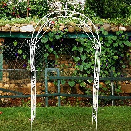 Arco Jardin Blanco, Arco de Jardín de Metal Decorativo ...
