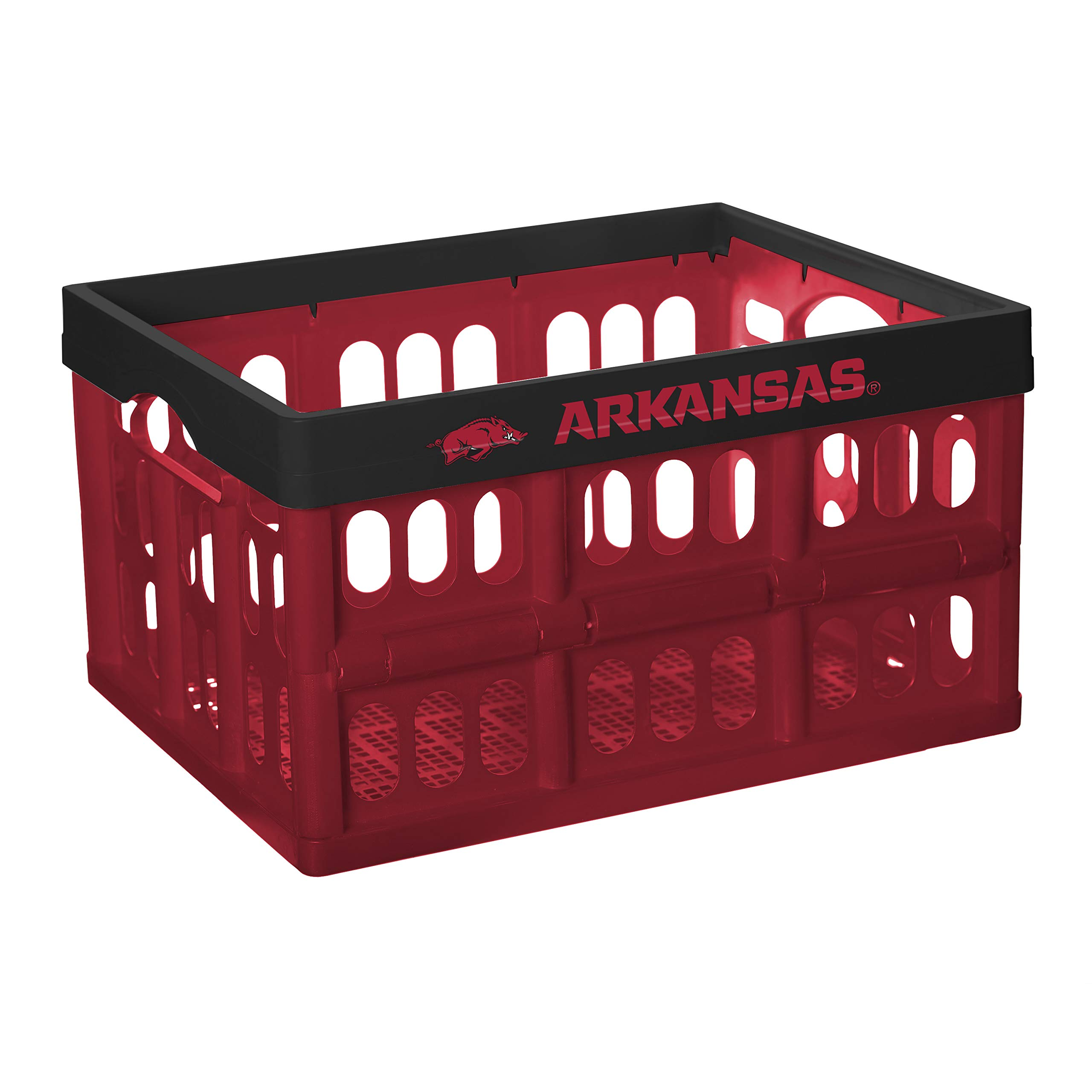 NCAA Fabrique Innovations Collapsible Crate, Arkansas Razorbacks