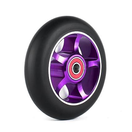 2 ruedas de repuesto profesionales de 100mm para scooter con rodamientos Abec 9 de