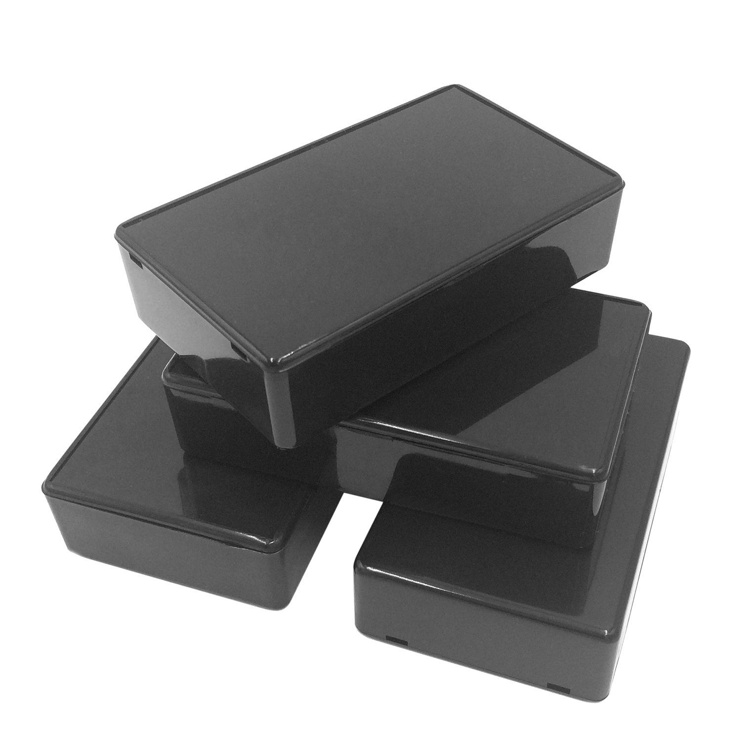 VNDEFUL 5Pcs Black Waterproof Plastic Electric Project Case Junction Box 3.94 x 2.36 x 0.98 inches(100x60x25mm).