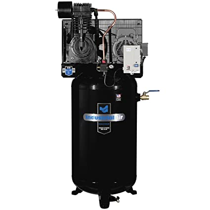 Amazon.com: Industrial Air IV7518075 Vertical 80 gallon Two Stage Cast Iron Industrial Air Compressor: Home Improvement