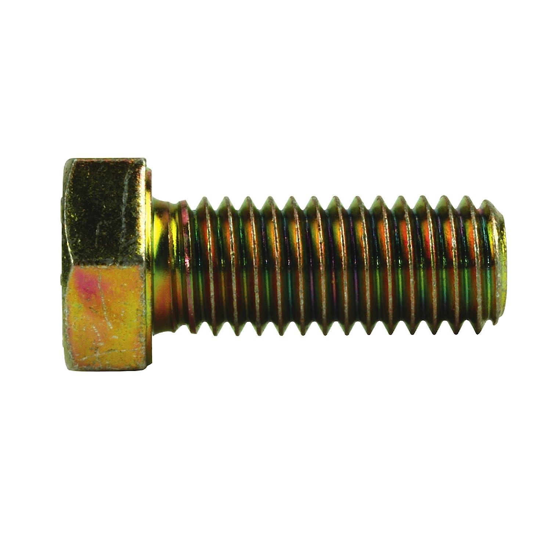 Crown Bolt 12460 5/8 Inch-11 x 5 Inch Yellow Zinc-Plated Coarse Thread Grade 8 Cap Screws, 10-Count