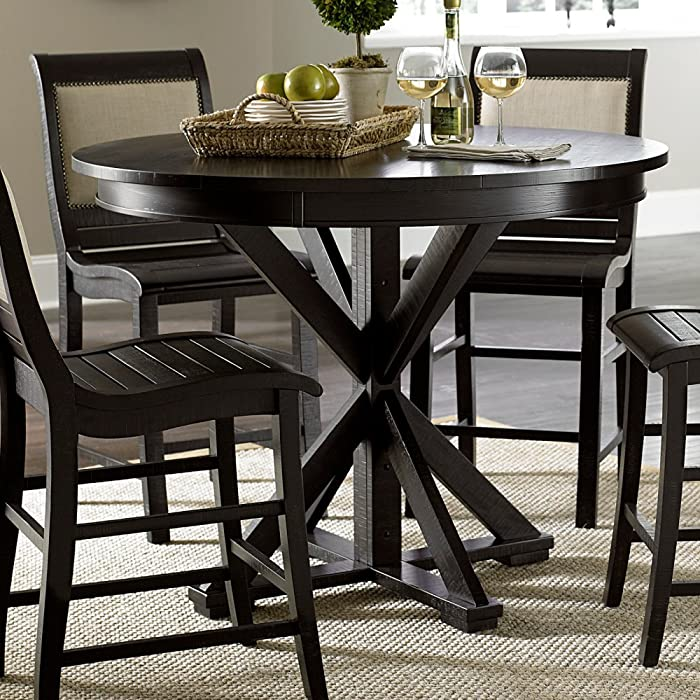 Progressive Furniture Willow Dining Table, Distressed Black