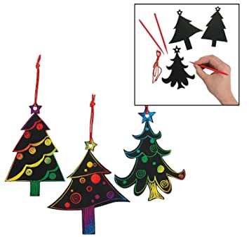Magic Color Scratch Christmas Tree Ornaments 24 Count Crafts For Kids Ornament Crafts