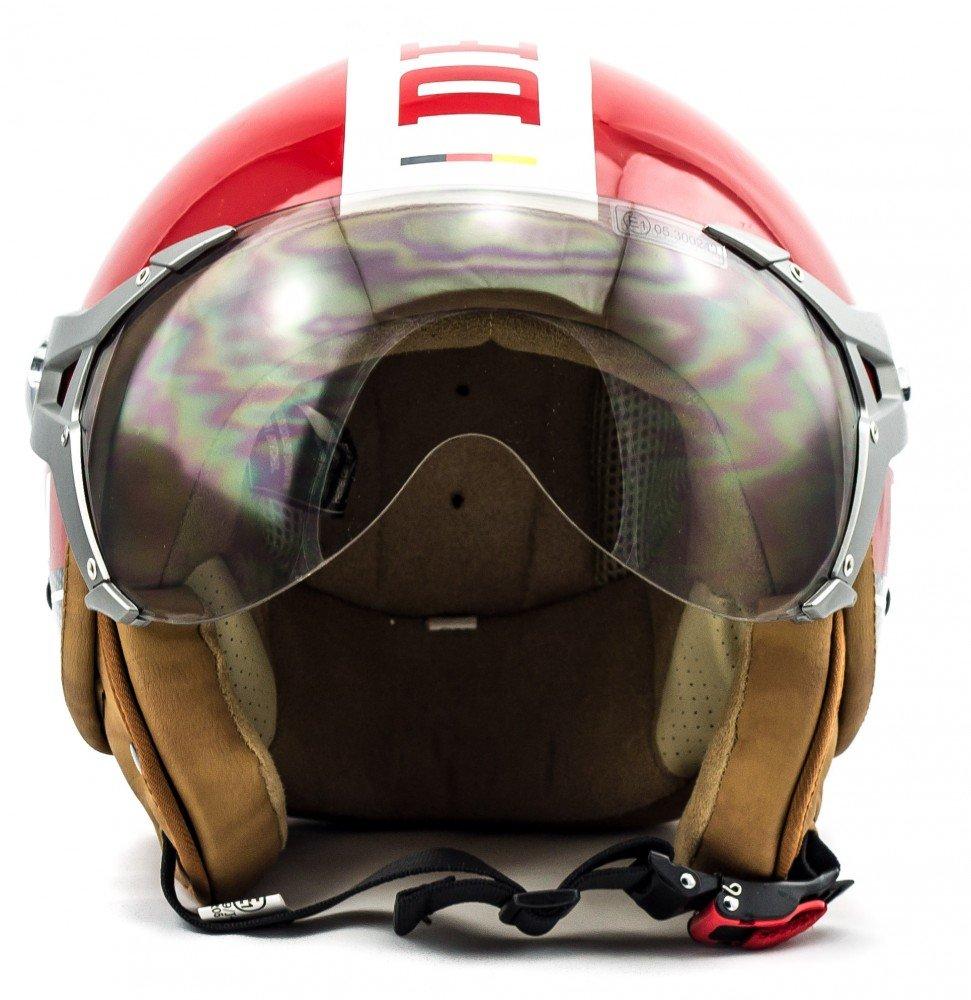 Amazon.es: SOXON SP-325-PLUS Red · Moto motocicleta Helmet Biker Urban Mofa Cruiser Vintage Urbano Casco Demi-Jet Scooter Retro Chopper Piloto Bobber Vespa ...