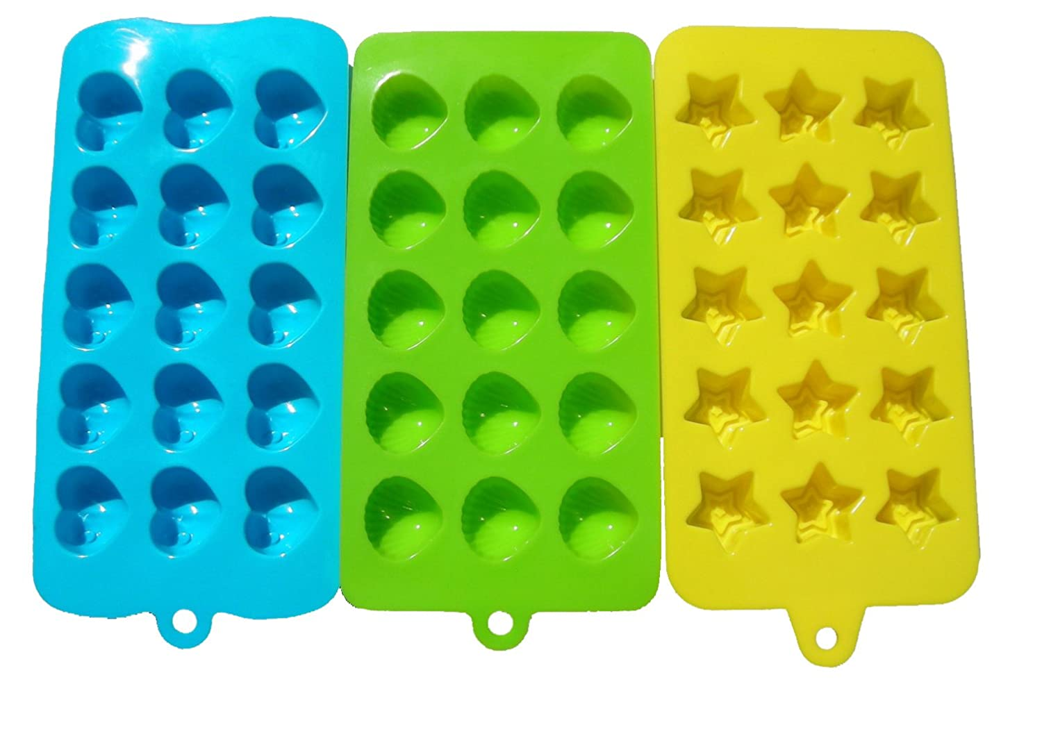 Lepilion Premium Silicone Candy Molds & Ice Cube Trays | Fda Approved Silicone Bpa Free | Chocolate, Candy, Gummy, Jelly, More | Hearts, Stars, Shells Shape by Lepilion