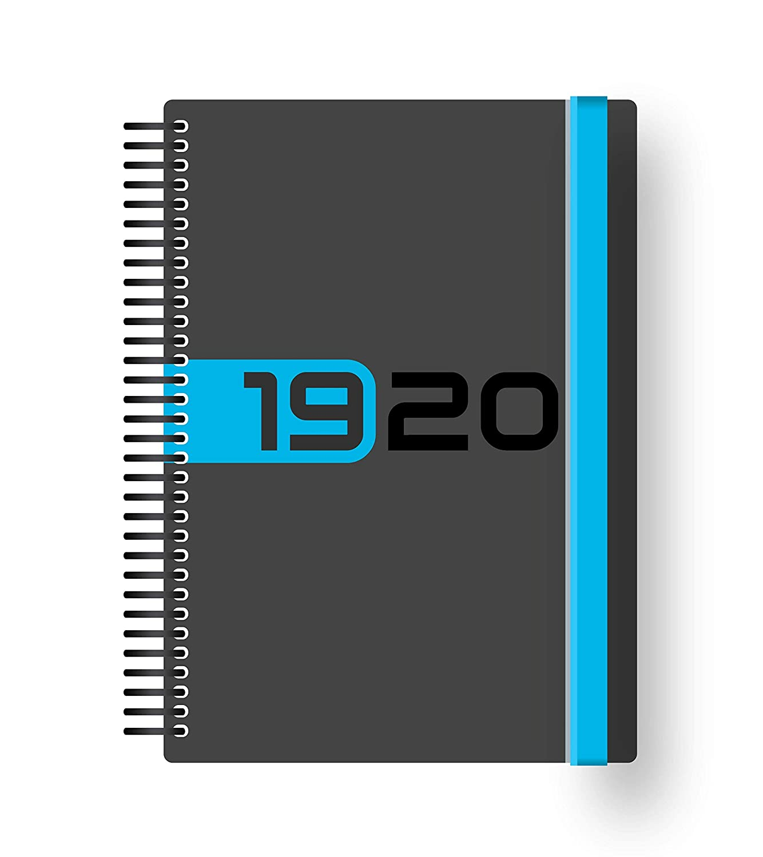 Collins Delta 2019-2020 - Agenda (A5, día por página), color azul
