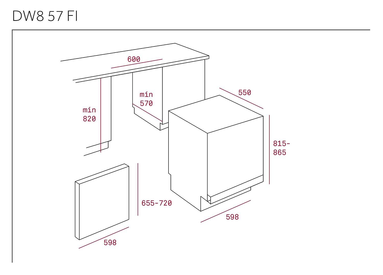 Teka DW8 57 FI Totalmente integrado 13cubiertos A++ lavavajilla ...
