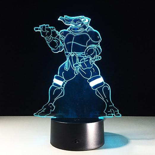 Para Teenage Mutant Ninja Turtles, Lámpara 3D con 7 colores ...