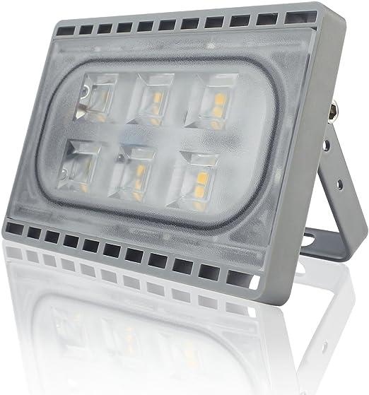 Faretto da Esterno e Interno 20W LED Faro a Luce Ultra Sottile Di Peso Leggero Proiettore Impermeabile IP65 per Illuminazione Bianco Caldo