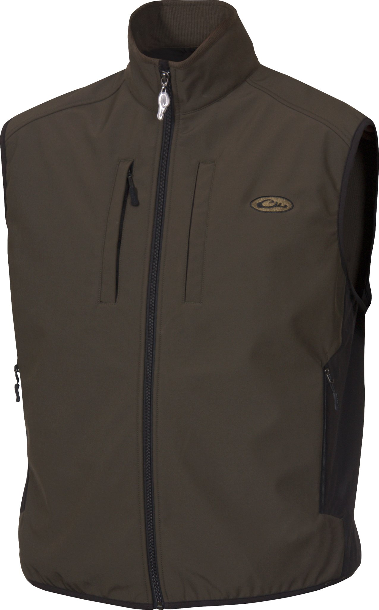 Drake Windproof Tech Olive Vest, Small