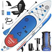Cooyes Premium Inflatable Stand Up Paddle Board (6 inches Thick) with SUP Accessories & Backpack, Dry Bag, Adjustable…