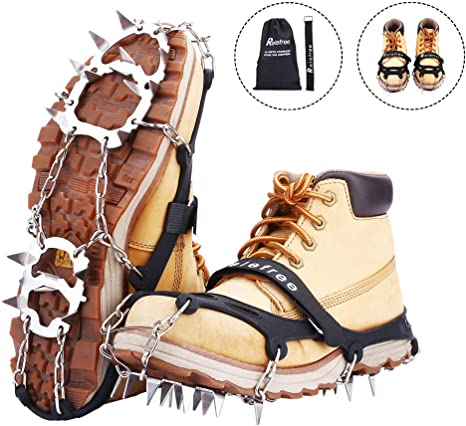 Scarponi da neve per ghiaccio Spike Boots Chain Crampons Stainless Steel