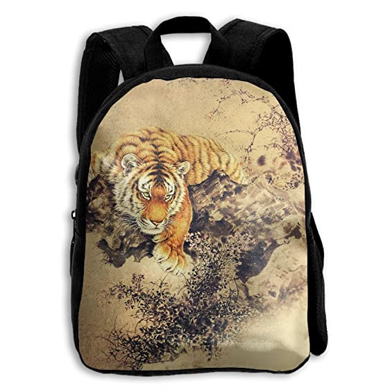 amazon com toddler backpack asian abstract tiger kids backpack