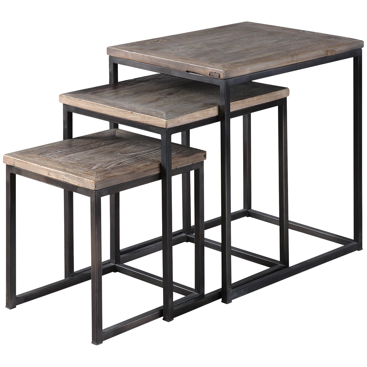 Amazon.com Uttermost 24460 Bomani Wood Nesting Tables (Set of 3) Kitchen u0026 Dining  sc 1 st  Amazon.com & Amazon.com: Uttermost 24460 Bomani Wood Nesting Tables (Set of 3 ...